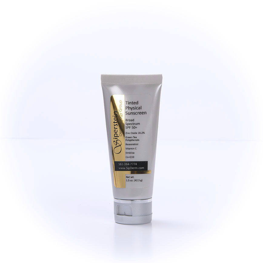 skin care products - tinted sunscreen spf 50+