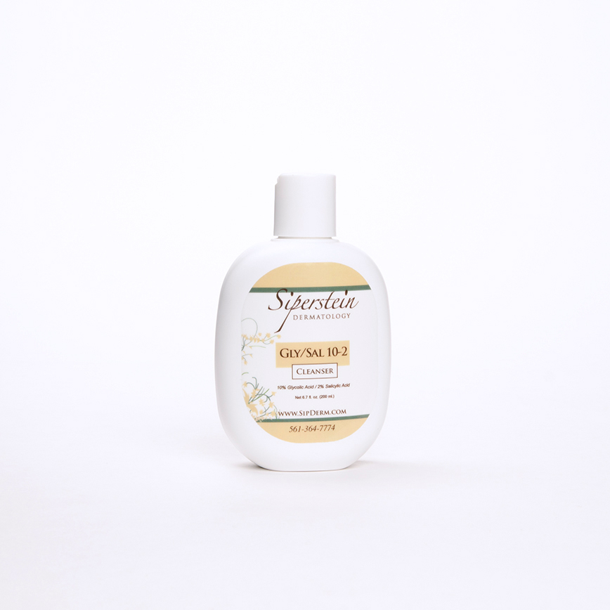skin care products - glycolic-salicylic acid cleanser