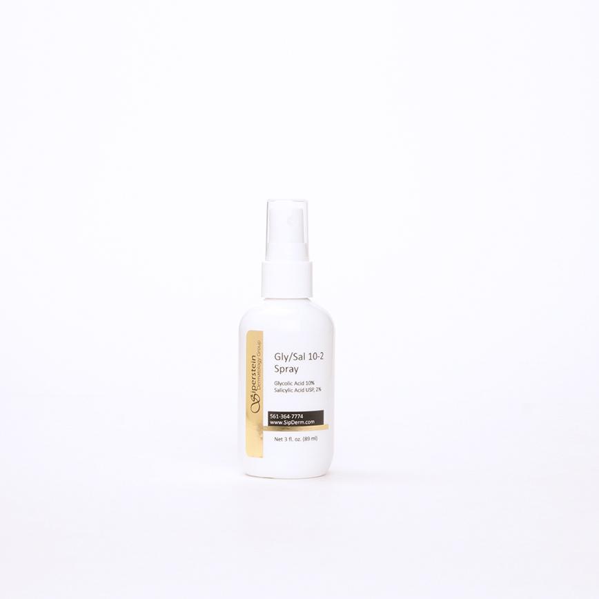 skin care products - glycolic-salicylic acid spray